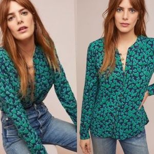 Anthropologie 52 conversations hearts blouse 0724